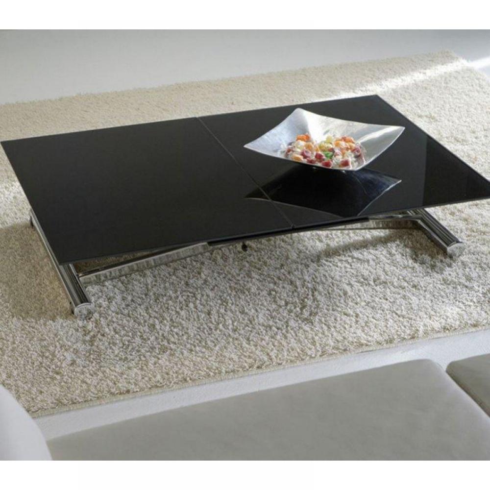 Rapido convertibles canap s syst me rapido lift cristal for Table verre noir extensible
