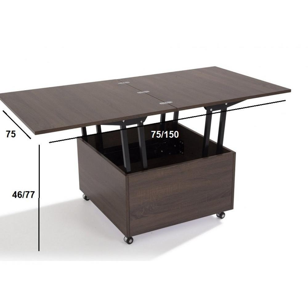 Table basse but wenge maison design - Table basse relevable wenge ...