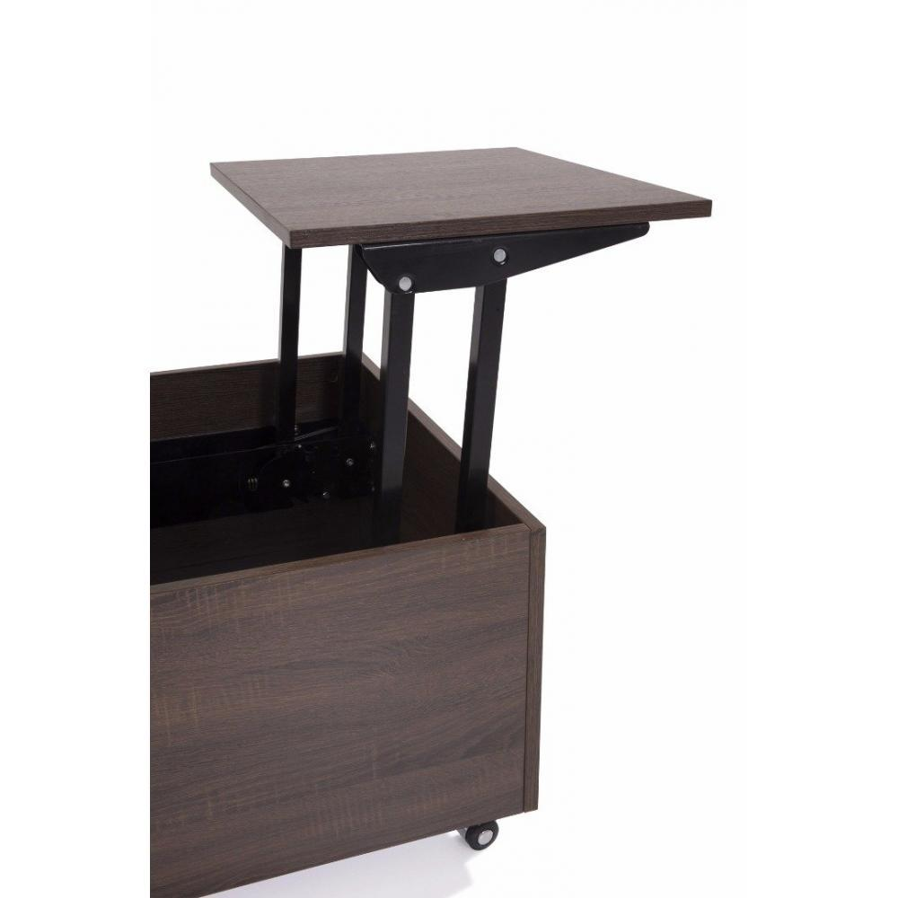 Tables basses tables et chaises table basse relevable extensible giani weng - Table extensible wenge ...