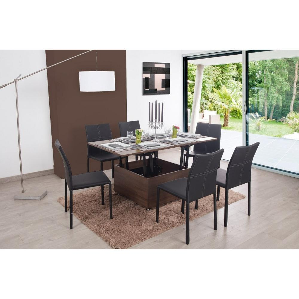 tables basses tables et chaises table basse relevable extensible giani weng inside75. Black Bedroom Furniture Sets. Home Design Ideas
