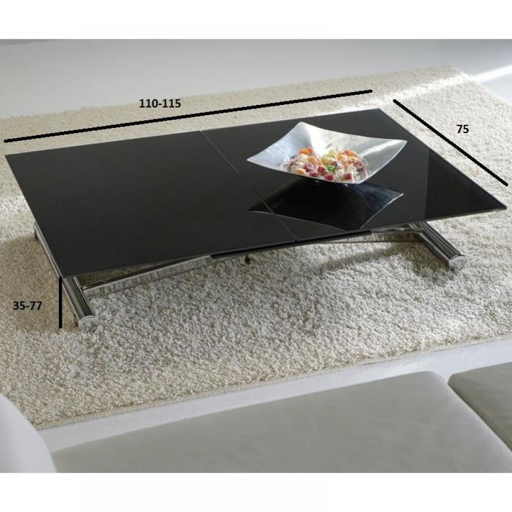 Tables relevables tables et chaises lift cristal table basse relevable exte - Table relevable en verre ...