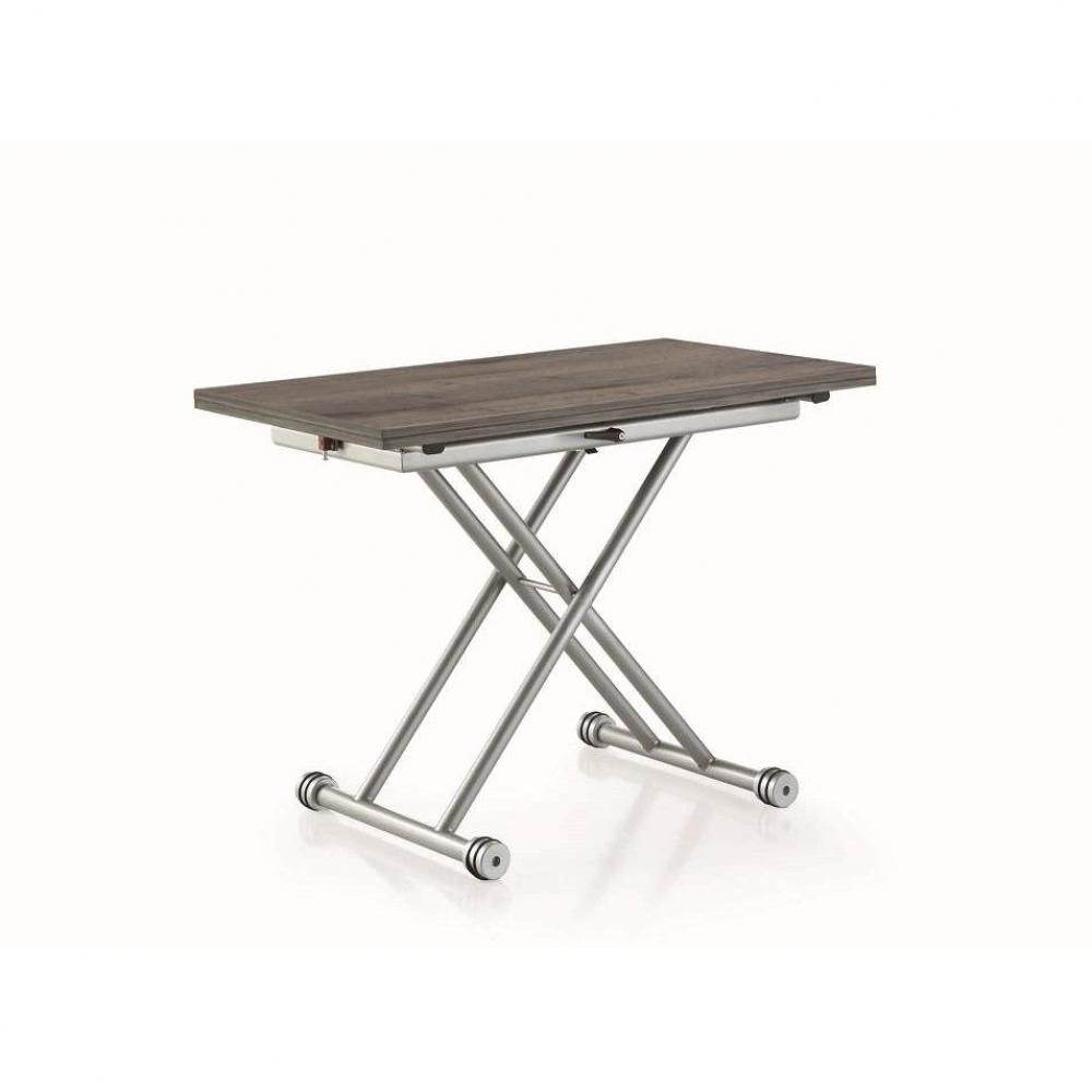 Table basse avec canape gris for Table extensible gris clair