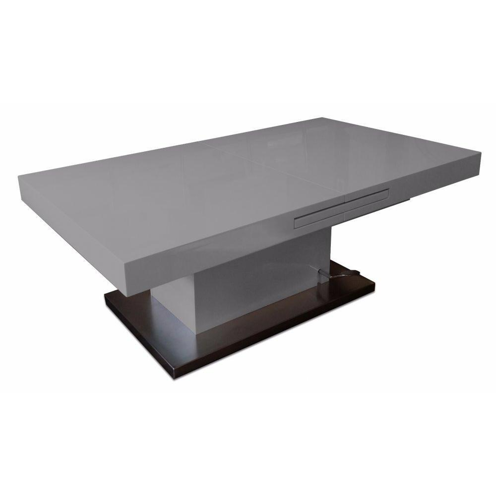 Tables relevables tables et chaises table basse relevable extensible setup gris brillant - Table extensible relevable ...
