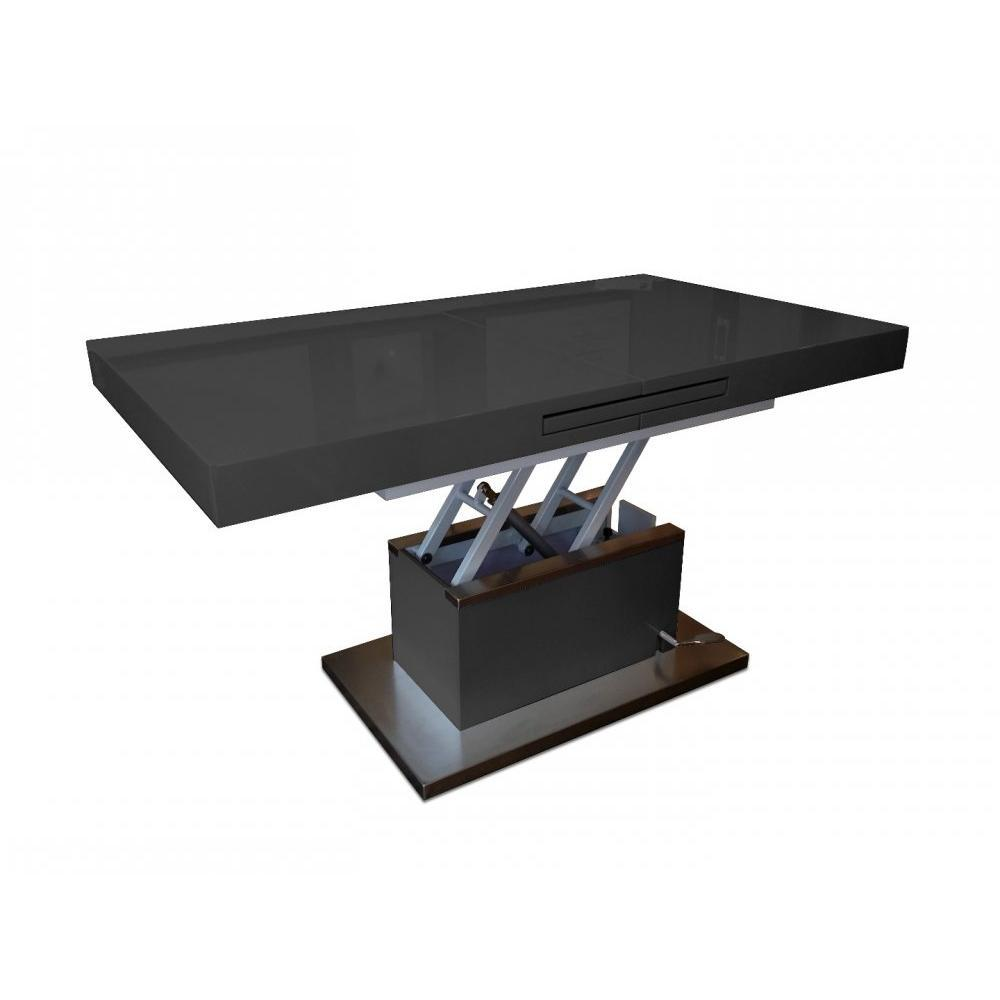Table basse relevable noir maison design - Table basse relevable noire ...