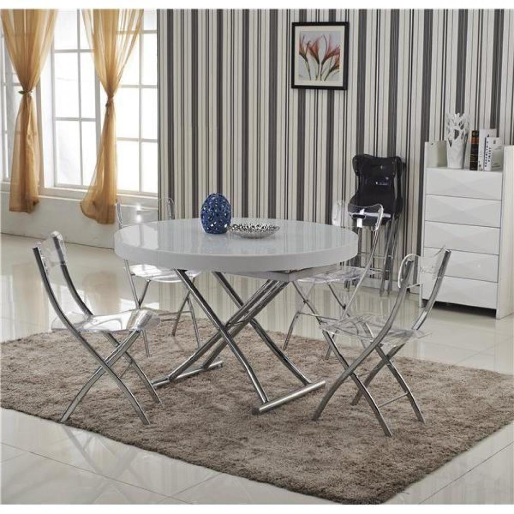 Tables relevables tables et chaises table basse ronde - Table basse ronde grise ...