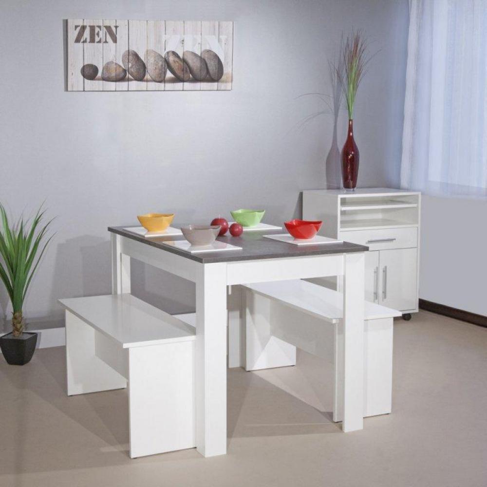 tables repas tables et chaises atoll table repas enfants blanc et b ton ou 2 places adultes. Black Bedroom Furniture Sets. Home Design Ideas
