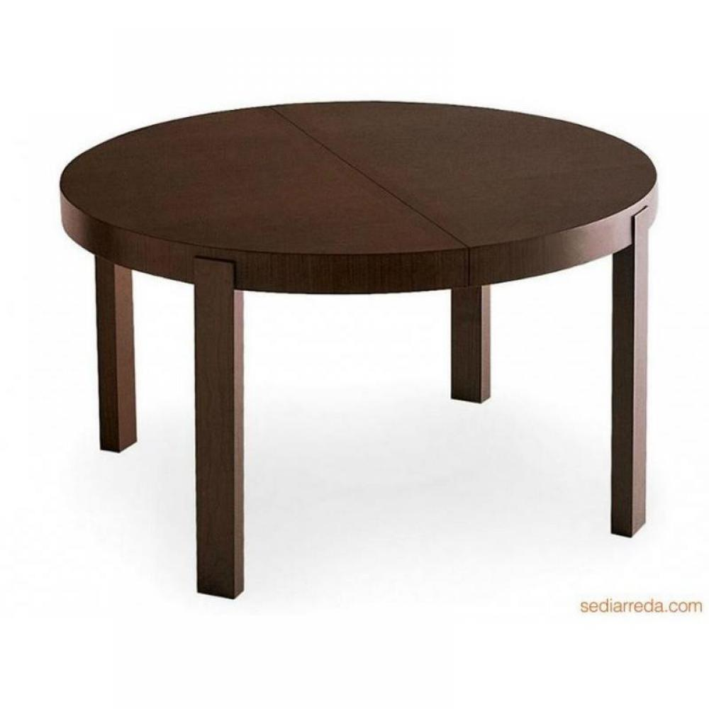 Tables tables et chaises calligaris table repas for Table ronde en bois extensible