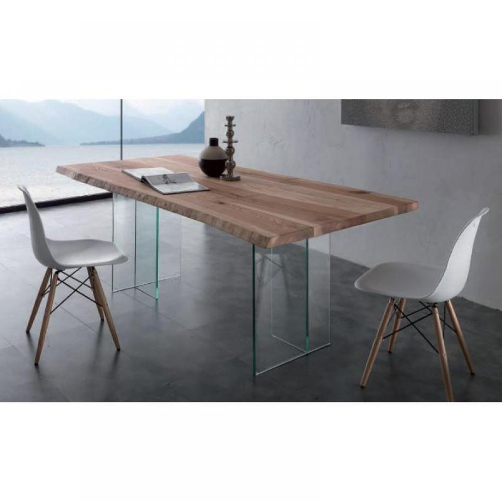 tables repas tables et chaises table repas bio glass en bois massif pi tement en verre. Black Bedroom Furniture Sets. Home Design Ideas