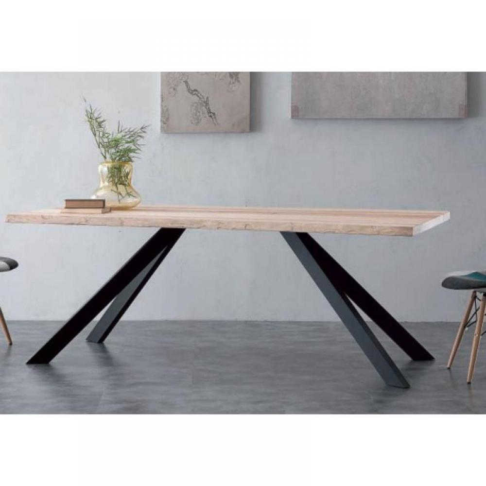 Tables repas tables et chaises table repas bio metal en for Table bois metal design