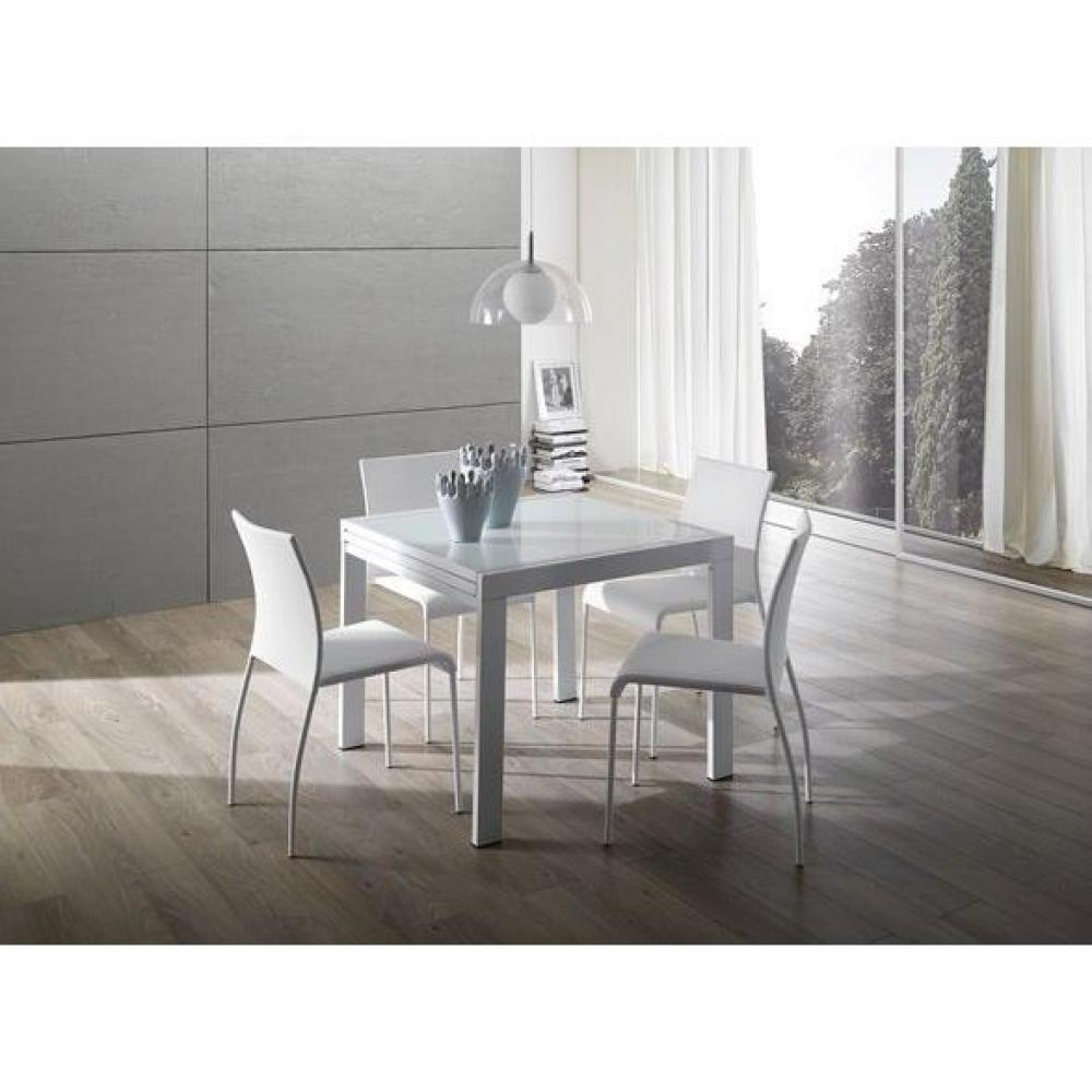 Tables repas tables et chaises universe table repas extensible carr e desig - Table carree blanche extensible ...