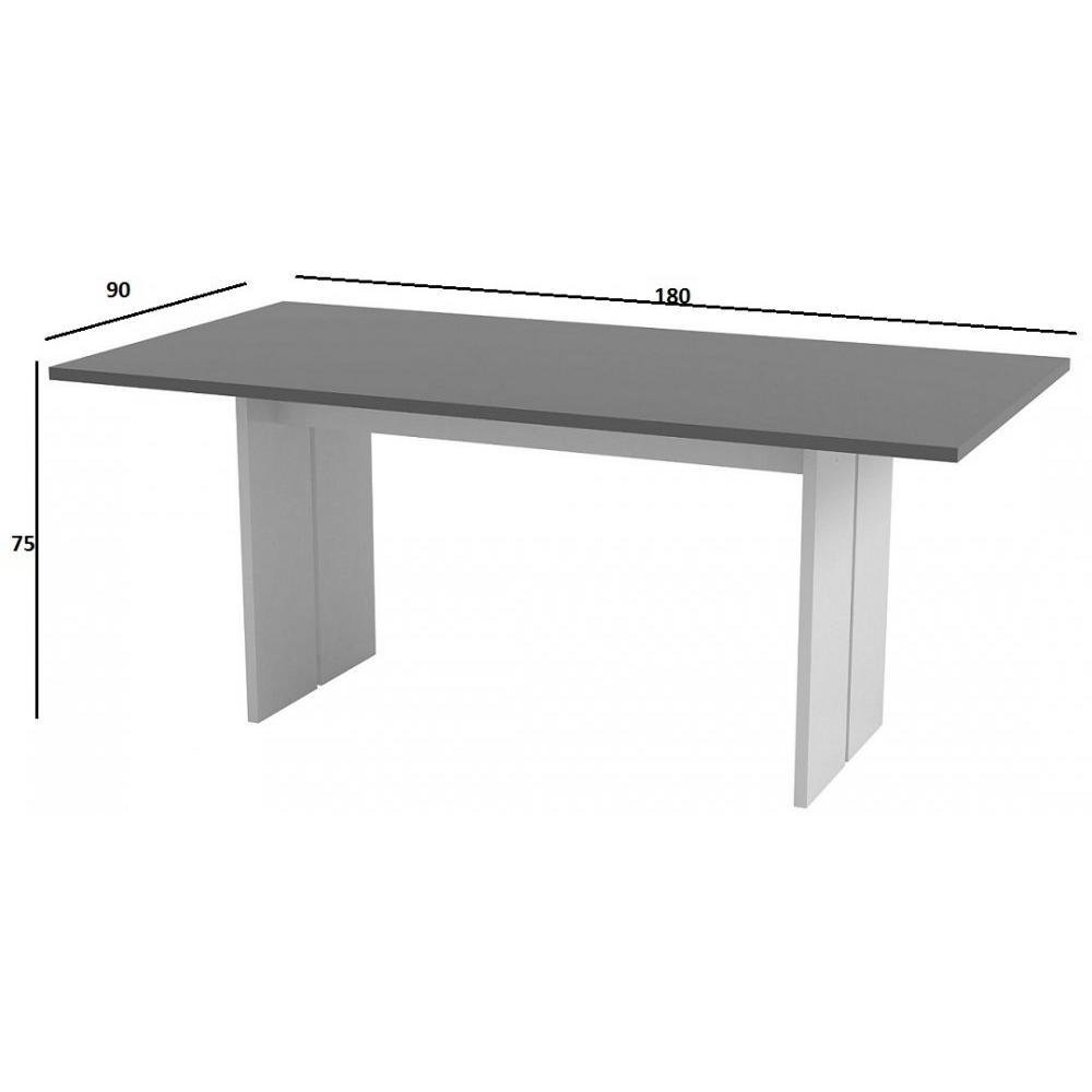 Tables repas tables et chaises table repas design bali - Table design grise ...