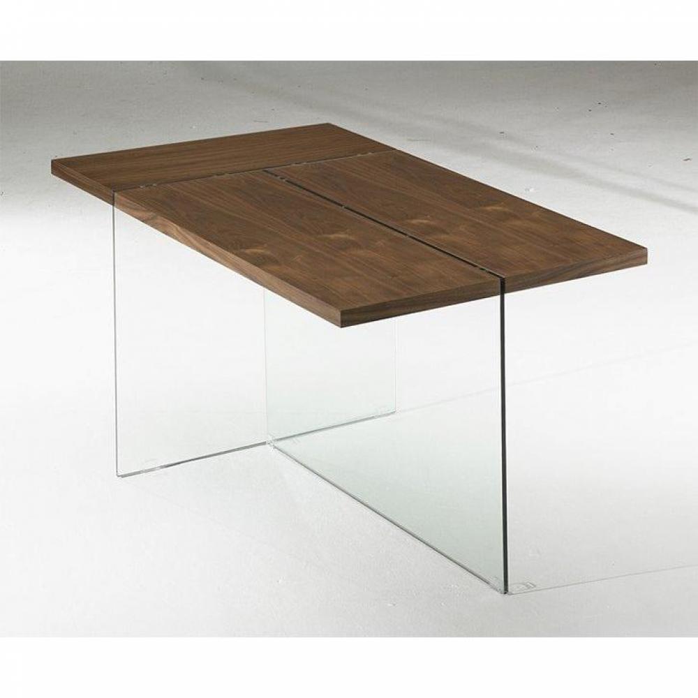 Tables repas tables et chaises table repas design delta noyer avec pi temen - Table en verre avec chaises ...
