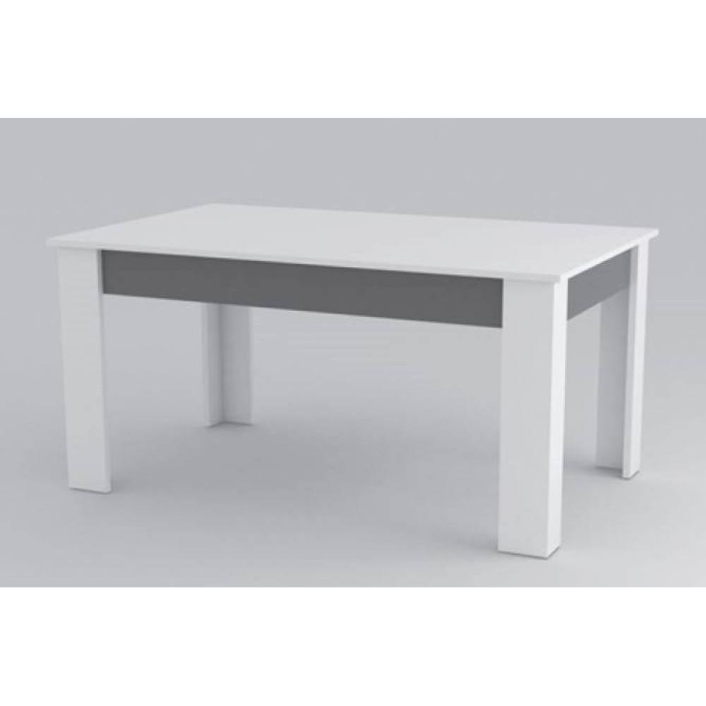 Tables repas tables et chaises table repas mito blanche for Table design blanche