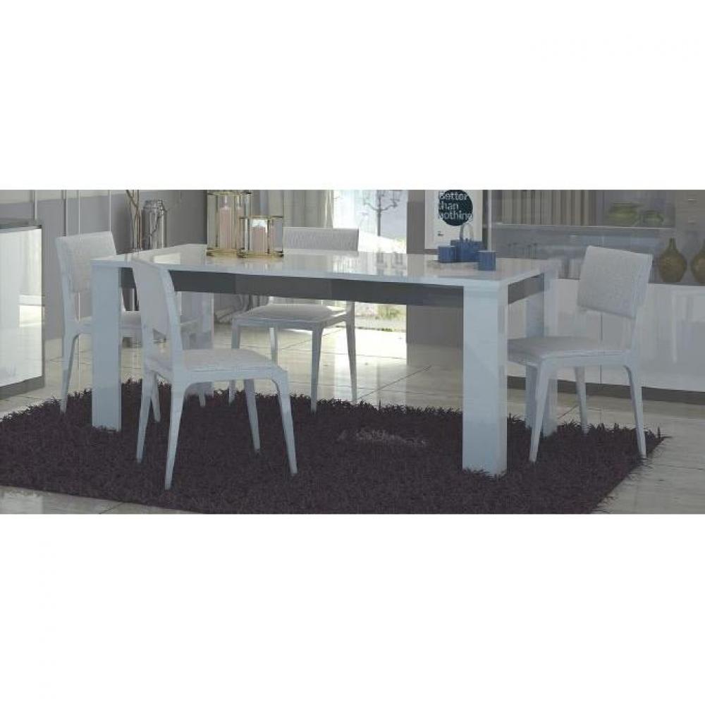 Tables repas tables et chaises table repas mito blanche et grise inside75 - Table blanche et grise ...