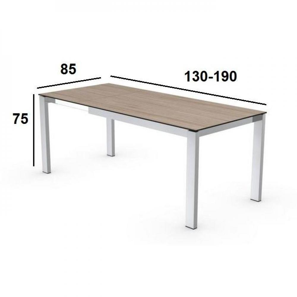 Tables repas tables et chaises calligaris table repas for Table extensible metal bois