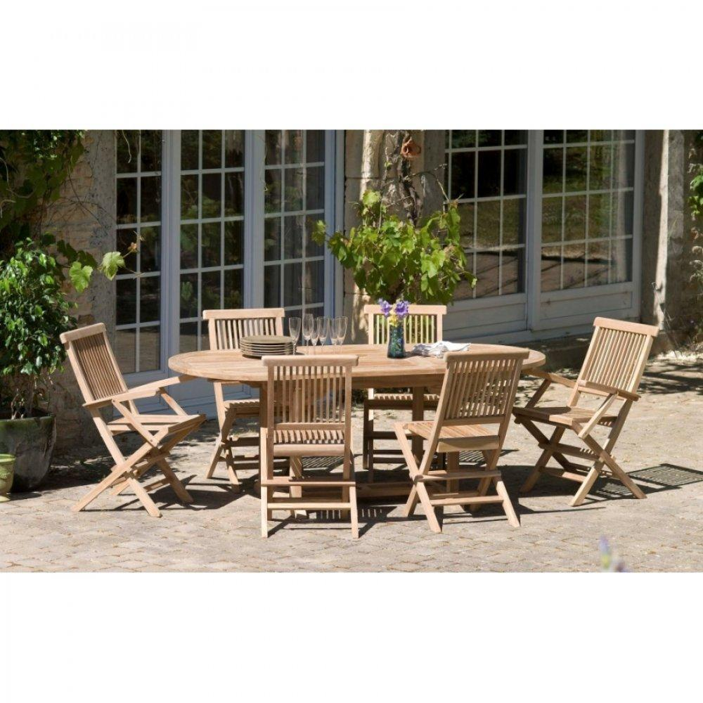 Tables tables et chaises table repas extensible de for Table ovale en teck