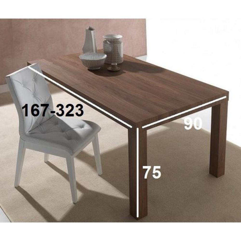 Tables tables et chaises table repas extensible fusion - Noyer americain ...