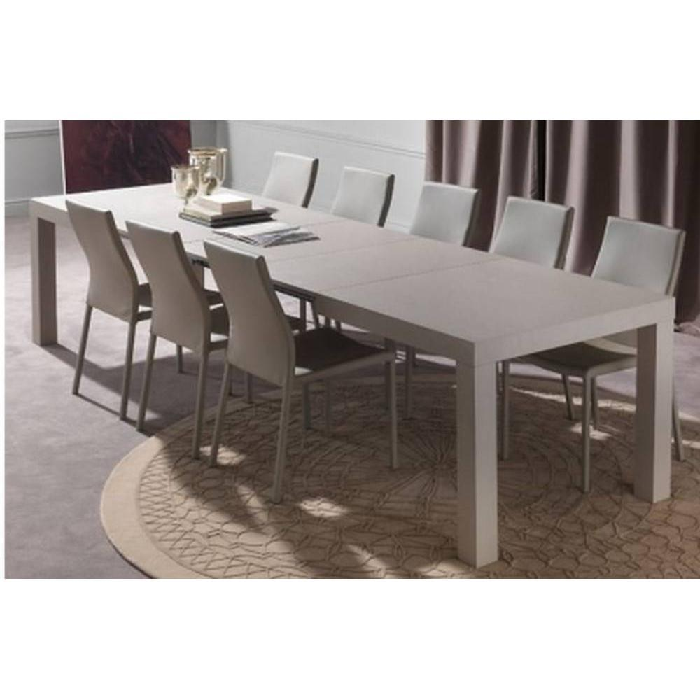 tables repas tables et chaises table repas extensible fusion taupe clair inside75. Black Bedroom Furniture Sets. Home Design Ideas