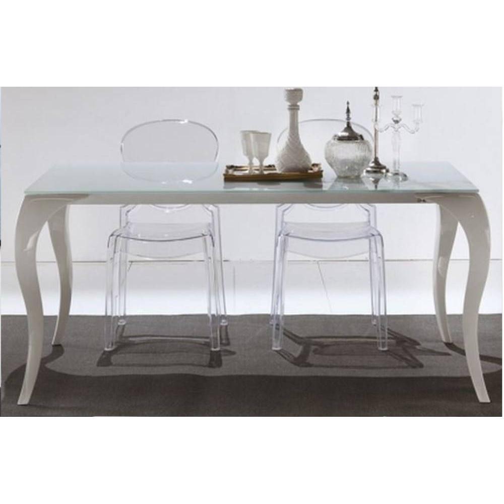 tables repas meubles et rangements table repas extensible paris en verre et plexiglas inside75. Black Bedroom Furniture Sets. Home Design Ideas