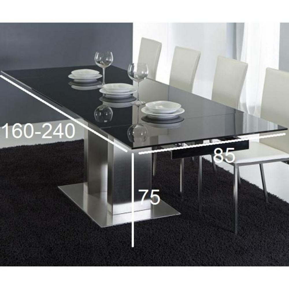 Table de jardin verre noir des id es for Grande table en verre