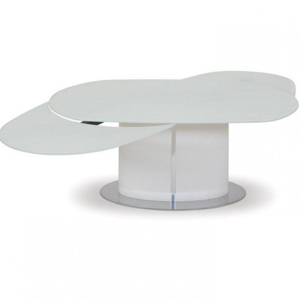 Table verre ovale rallonge for Table rallonge