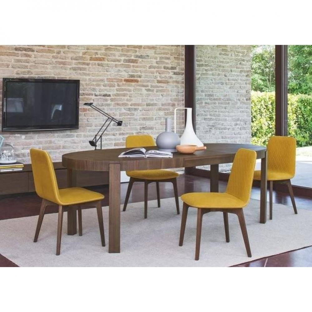 Chaises tables et chaises calligaris chaise sami for Table repas ronde extensible