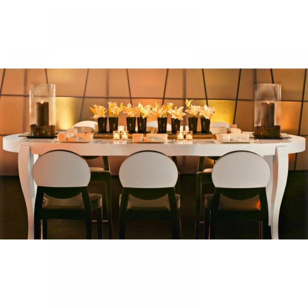 Tables repas tables et chaises table repas extensible - Table ovale extensible design ...