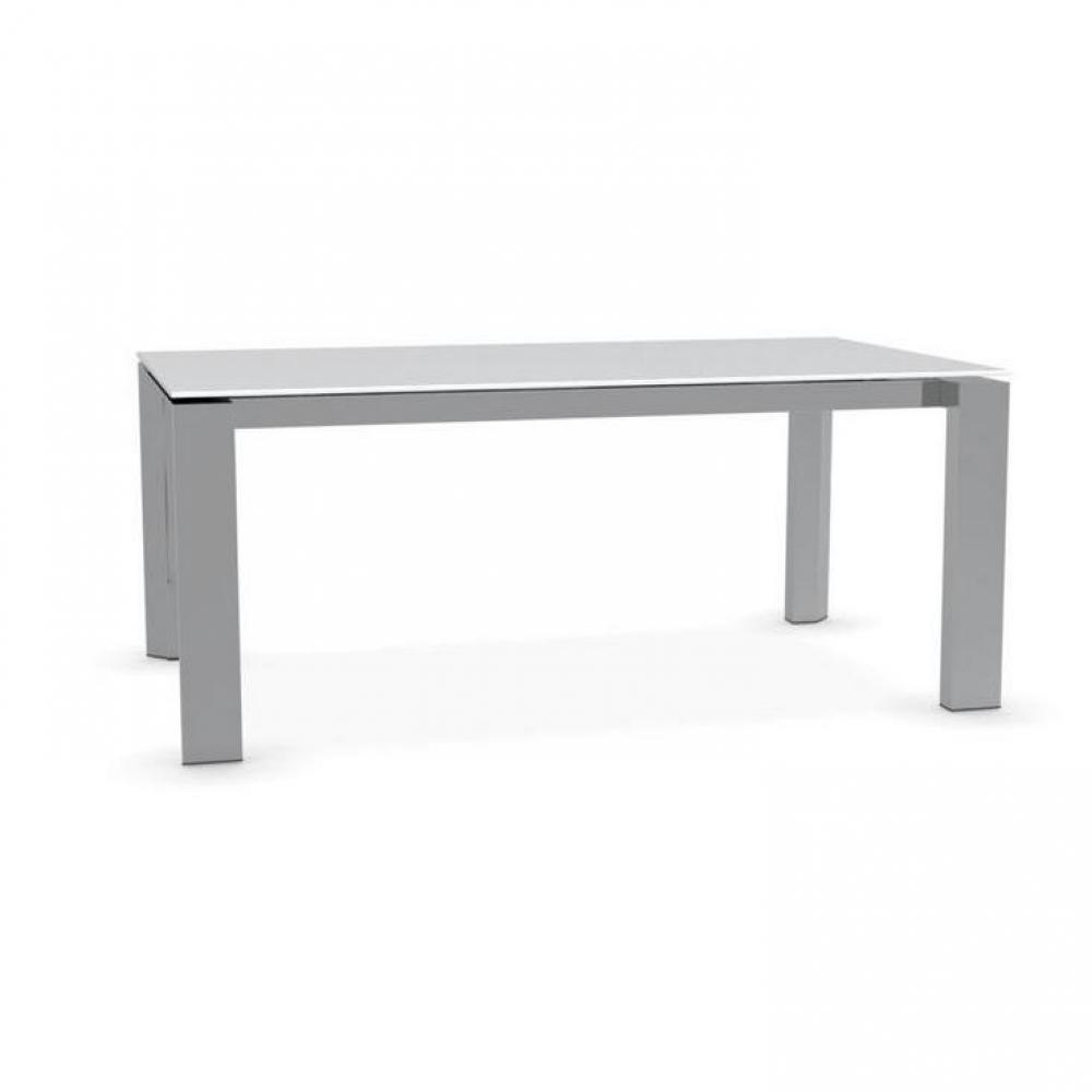 Tables repas tables et chaises calligaris table repas extensible royal 180x - Table verre blanc extensible ...