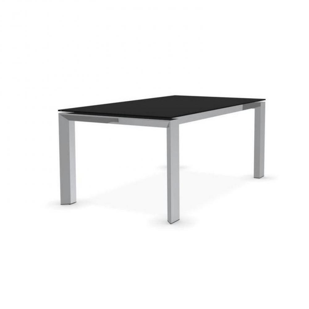 Tables repas tables et chaises calligaris table repas for Table verre noir extensible