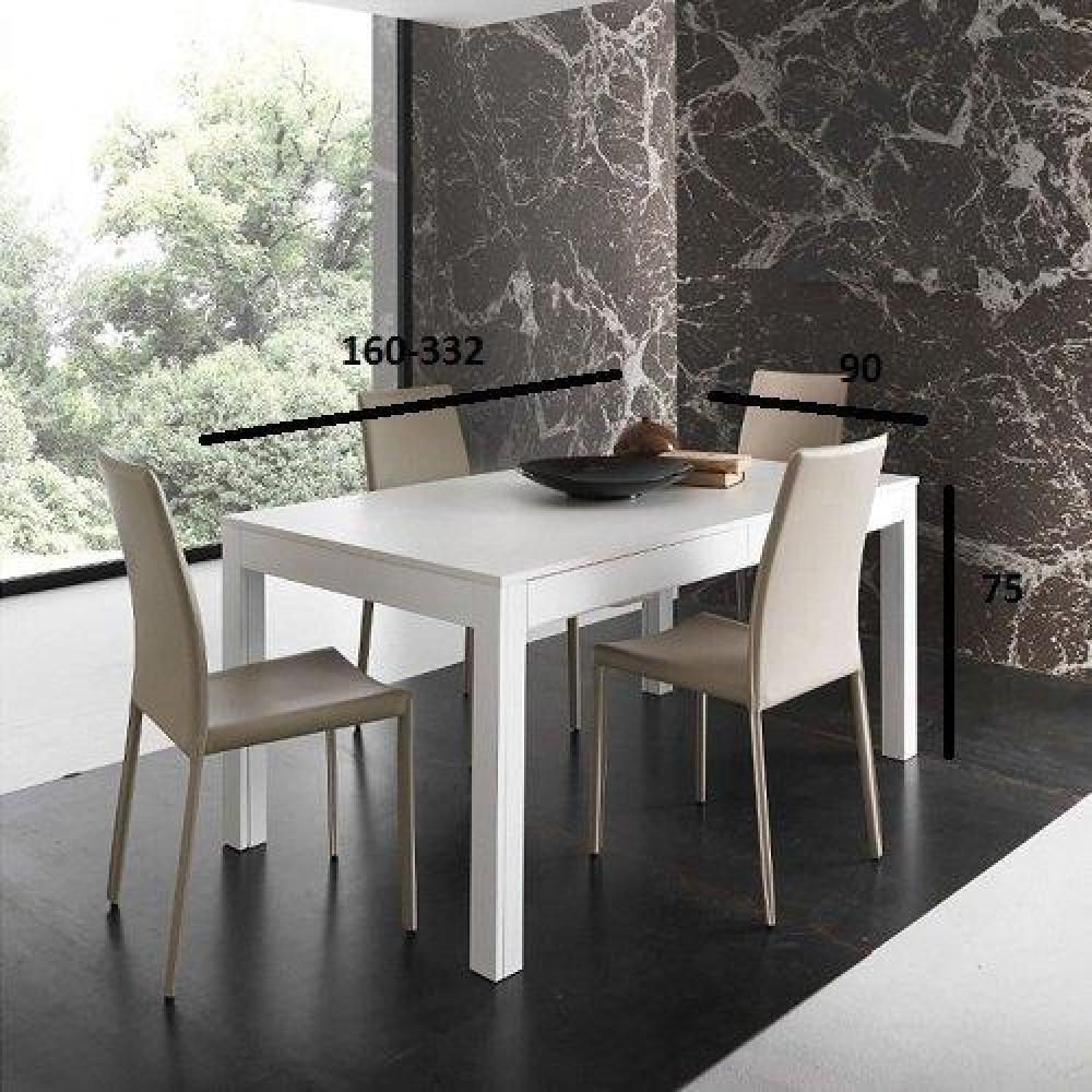 tables extensibles tables et chaises table repas extensible ermes blanche inside75. Black Bedroom Furniture Sets. Home Design Ideas