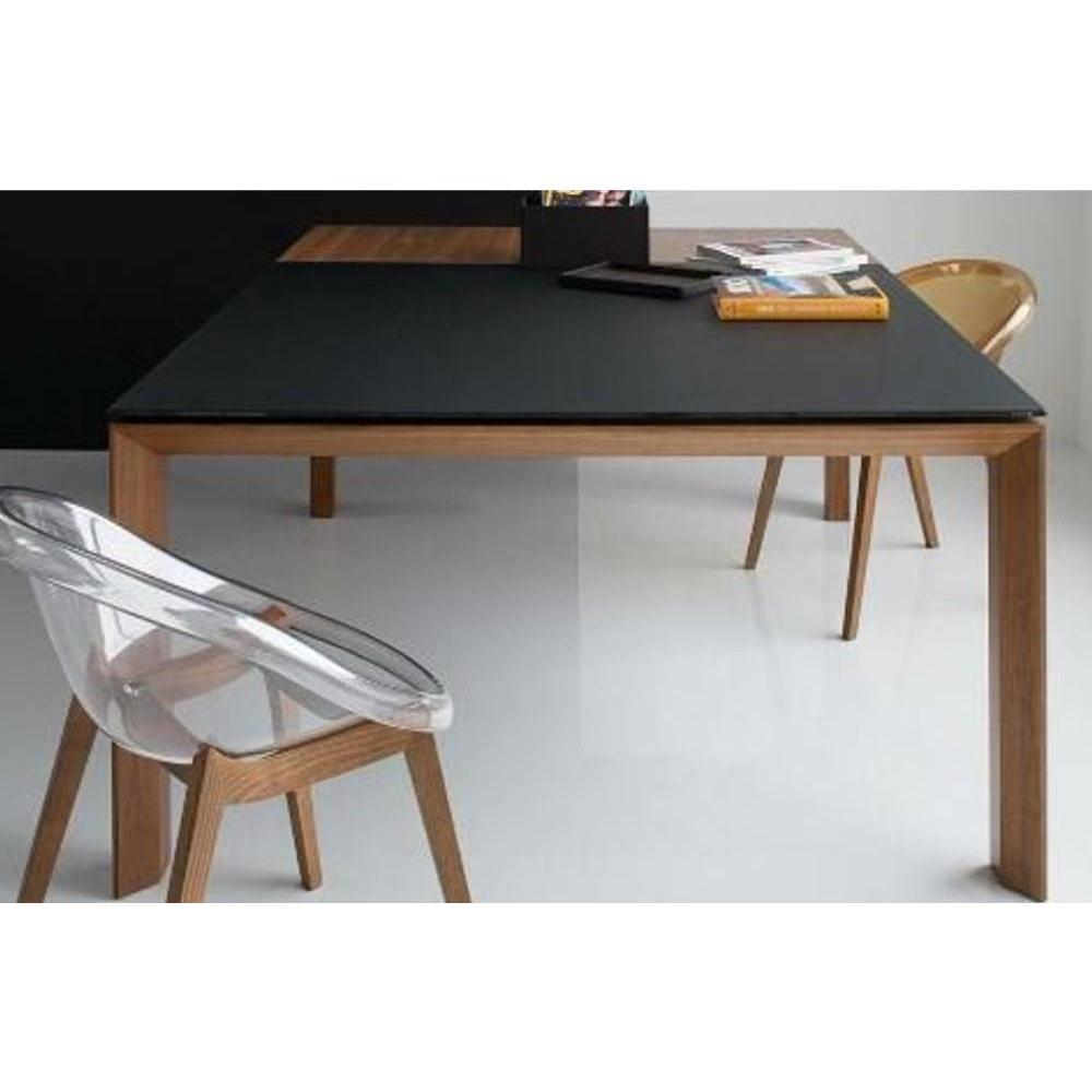 Tables repas tables et chaises calligaris table repas for Table verre noir extensible