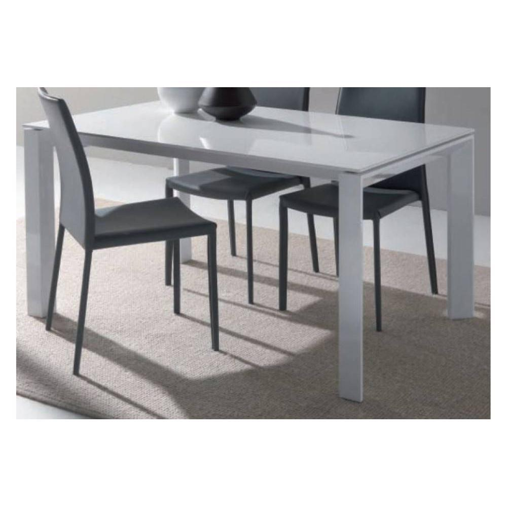 Tables repas tables et chaises table repas extensible for Table verre blanc extensible