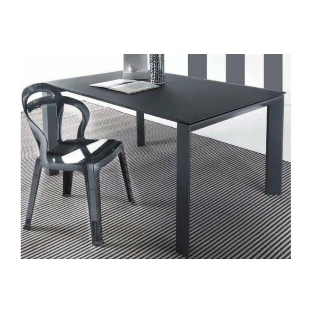 tables repas tables et chaises table repas extensible sliver en verre 120 x 80 cm gris. Black Bedroom Furniture Sets. Home Design Ideas
