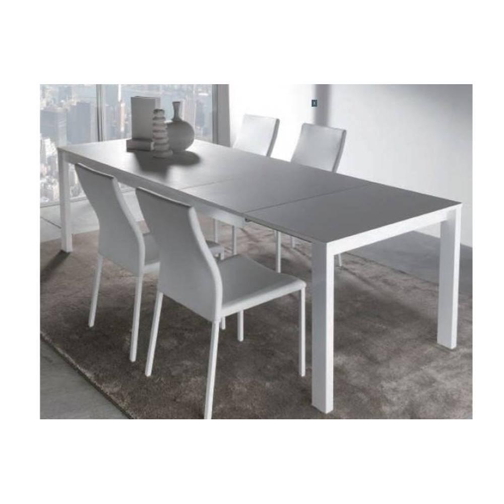 Tables extensibles tables et chaises table repas for Table blanche extensible