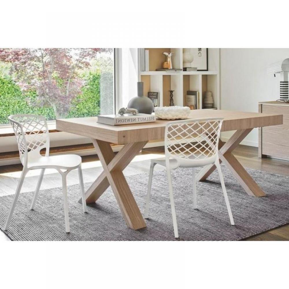 tables repas tables et chaises calligaris table repas extensible two 180x100 en bois naturel. Black Bedroom Furniture Sets. Home Design Ideas