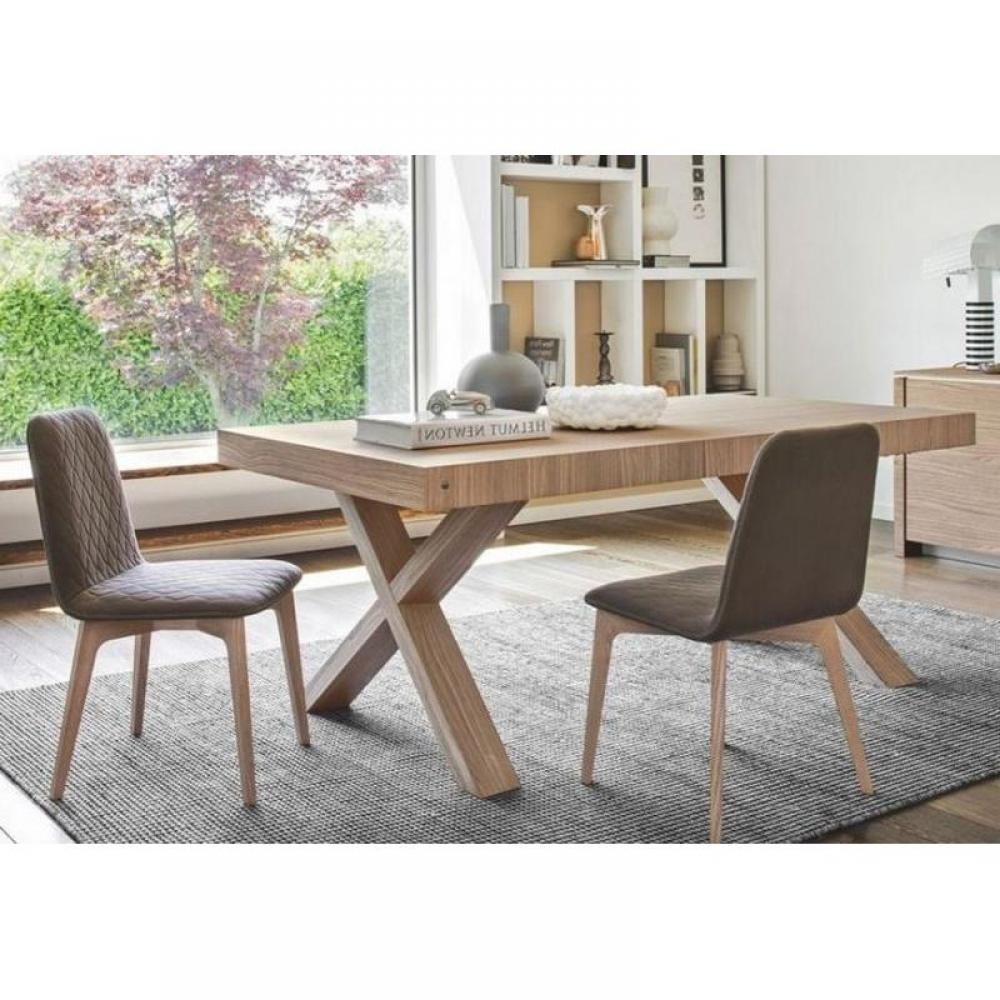 tables repas tables et chaises calligaris table repas extensible two 180x100 en bois naturel. Black Bedroom Furniture Sets. Home Design Ideas