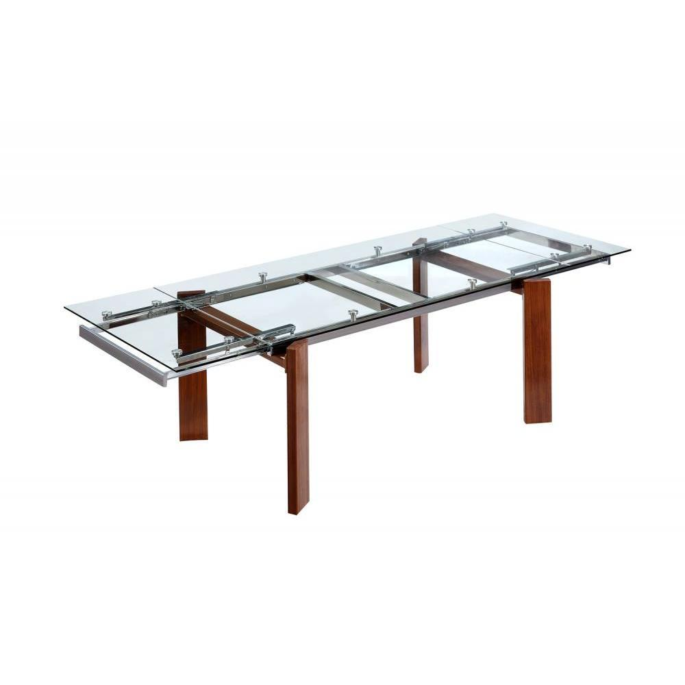 Table design extensible table extensible en bois maxila for Table repas ronde extensible