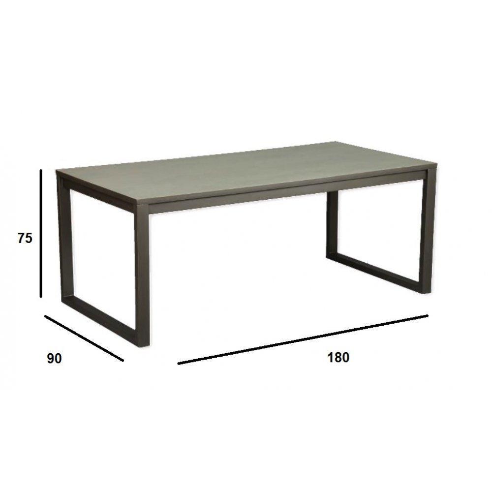 Table bois ceruse gris for Table tv bois