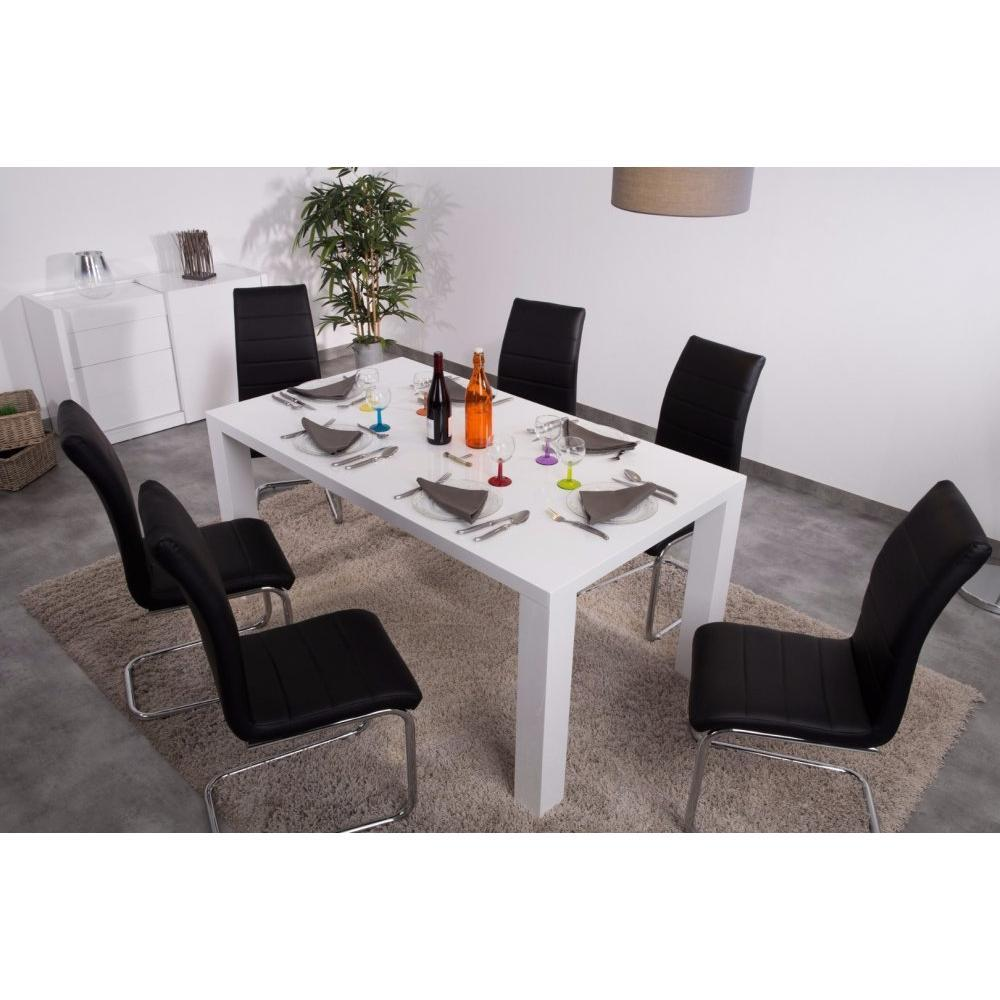 Tables Repas Tables Et Chaises Table Repas Rectangle Ashlow Blanc Inside75