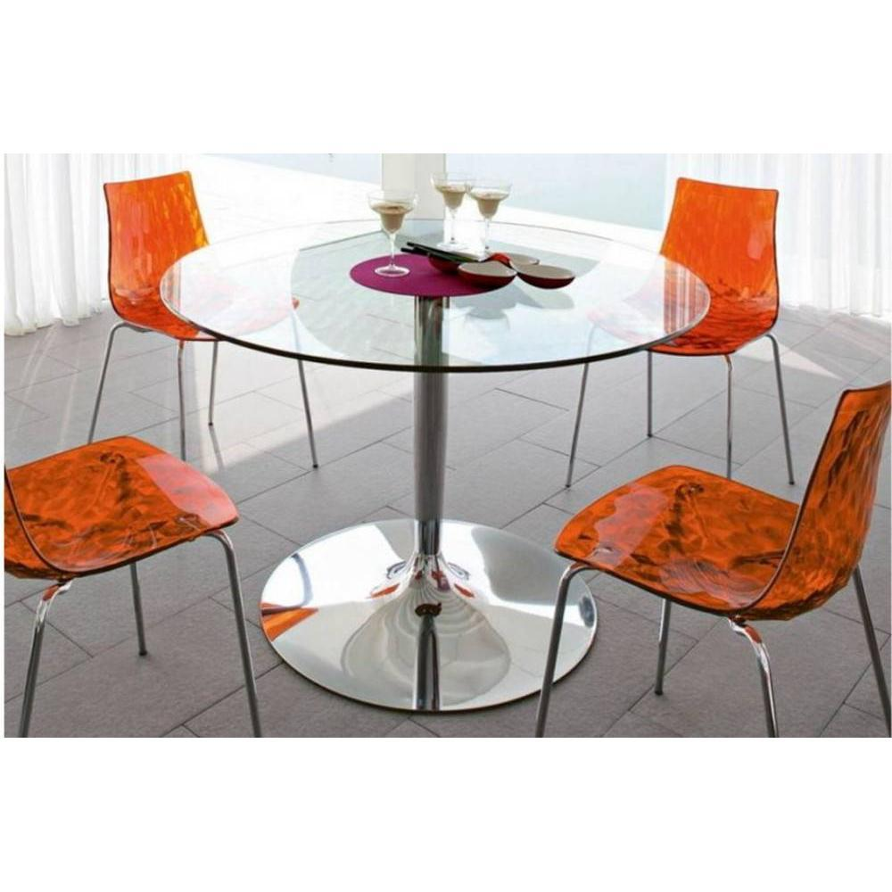 TablesEtChaises tables table repas ronde planet calligaris verre transparent