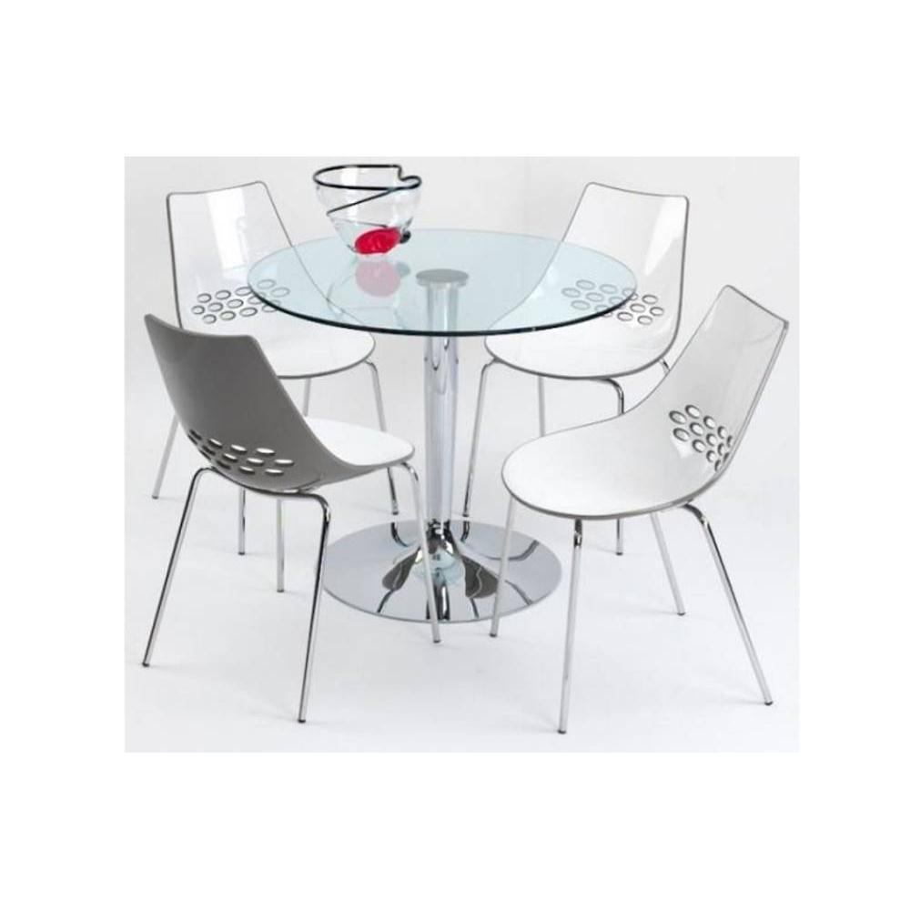 Chaises pour table ronde en verre 20170721144103 for Table en verre et chaise