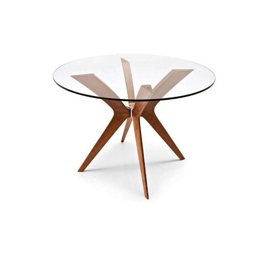 Table ronde verre 100 cm for Table ronde verre design