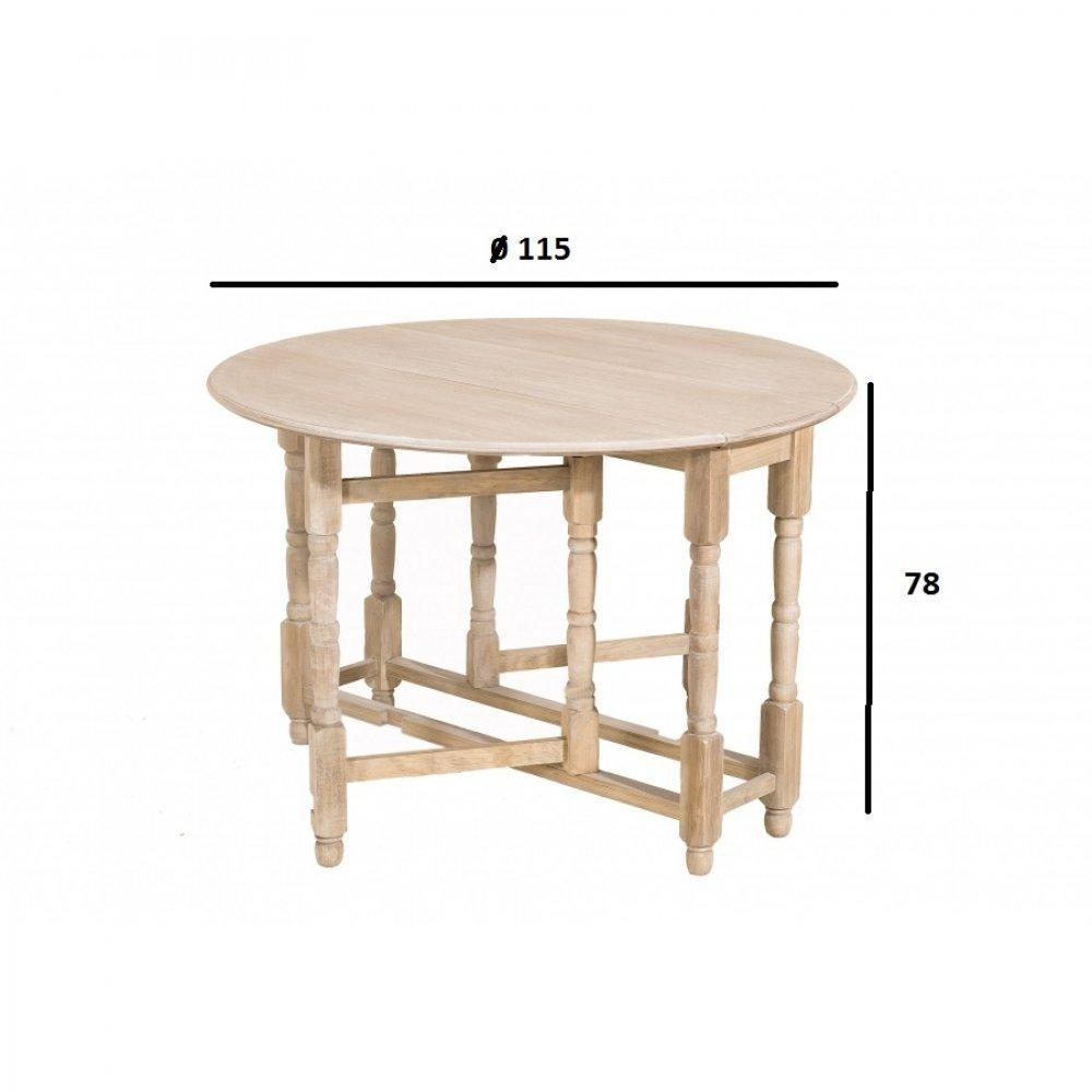 Tables tables et chaises table ronde pliante 115 x 115 - Table ronde pliante bois ...