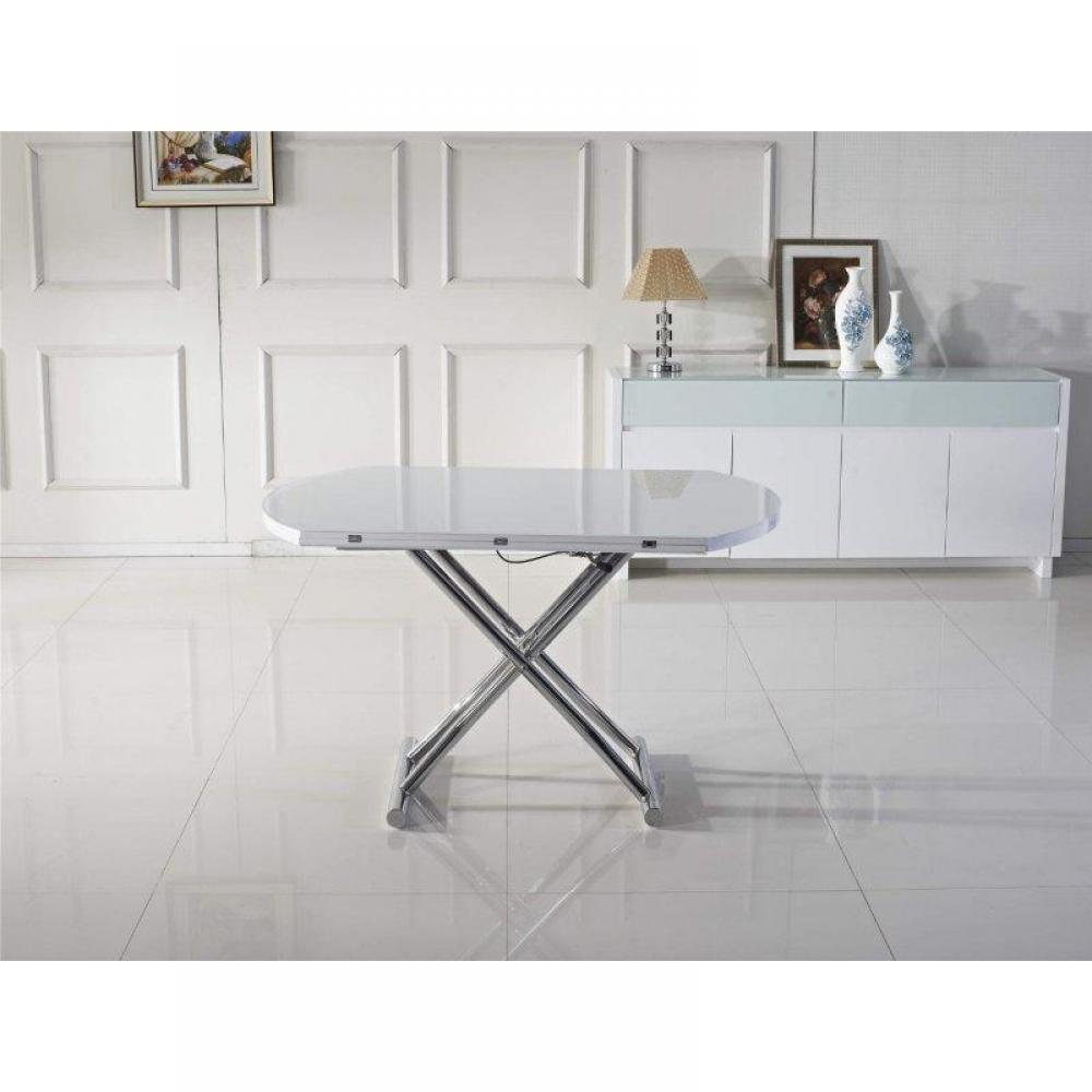Tables relevables tables et chaises table basse ronde - Table basse blanche relevable ...