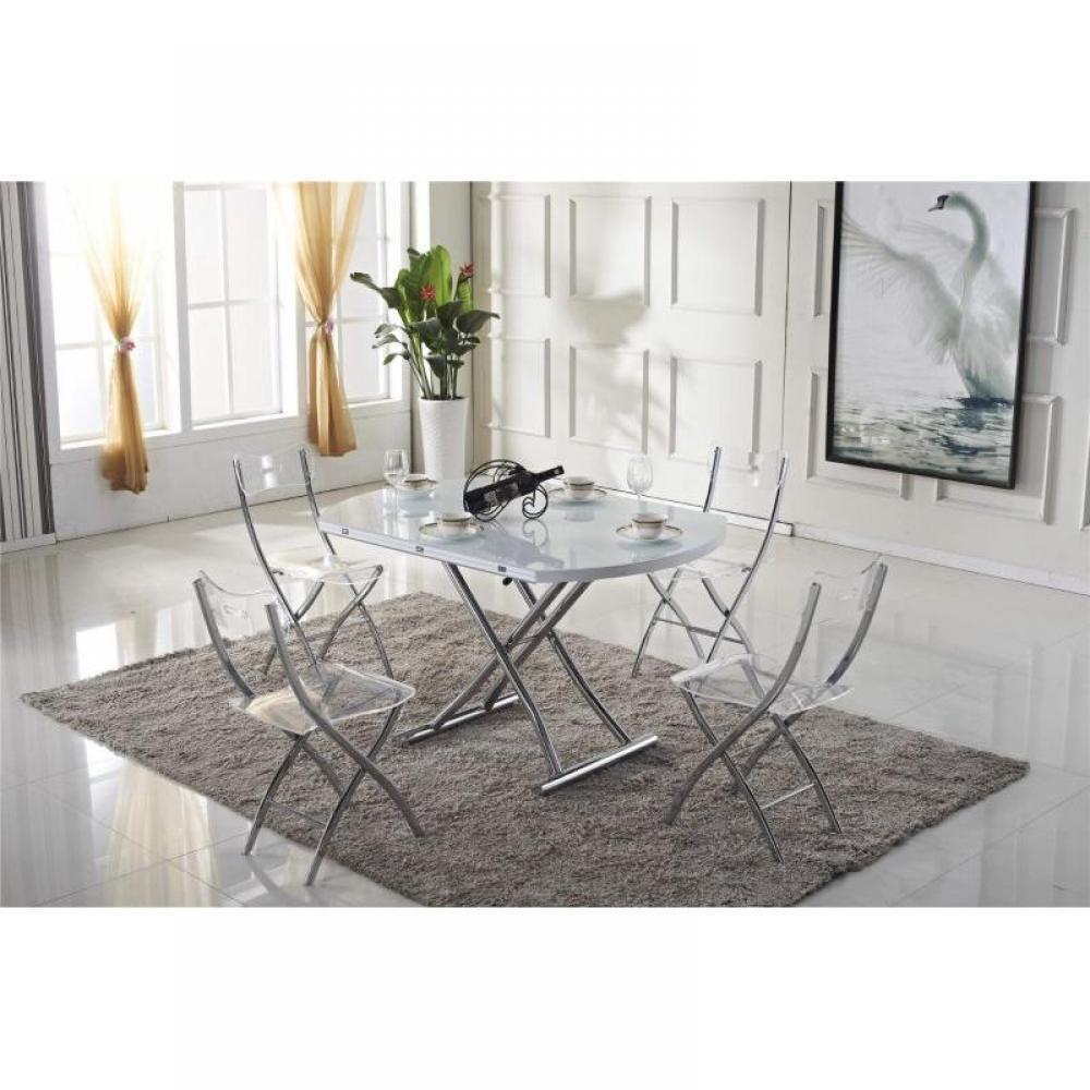 Tables relevables tables et chaises table basse ronde relevable et extensib - Table basse relevable solde ...