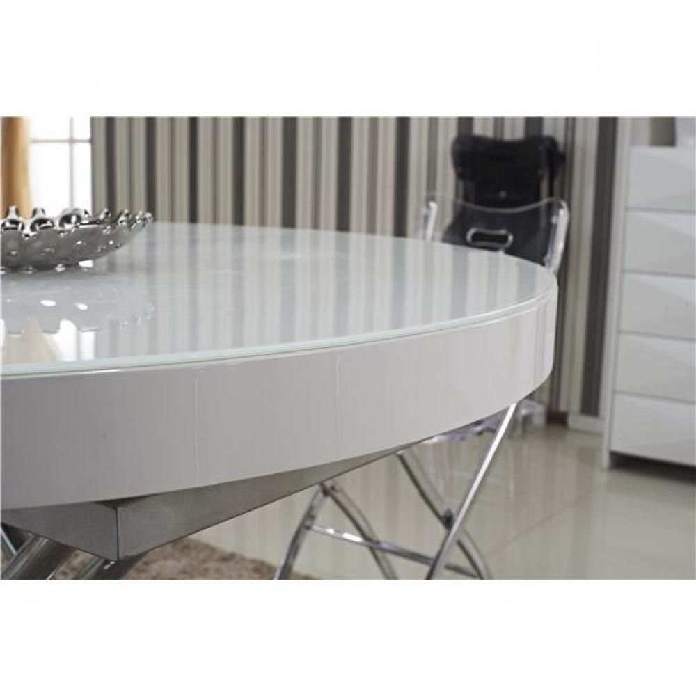 Tables relevables meubles et rangements table basse for Table ronde extensible blanche