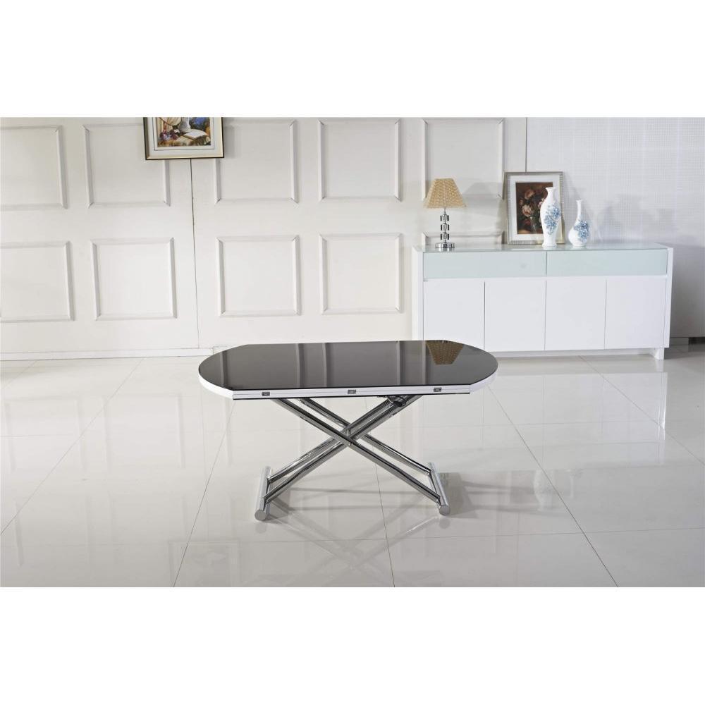 rapido convertibles canap s syst me rapido table basse ronde relevable et extensible planet noire. Black Bedroom Furniture Sets. Home Design Ideas