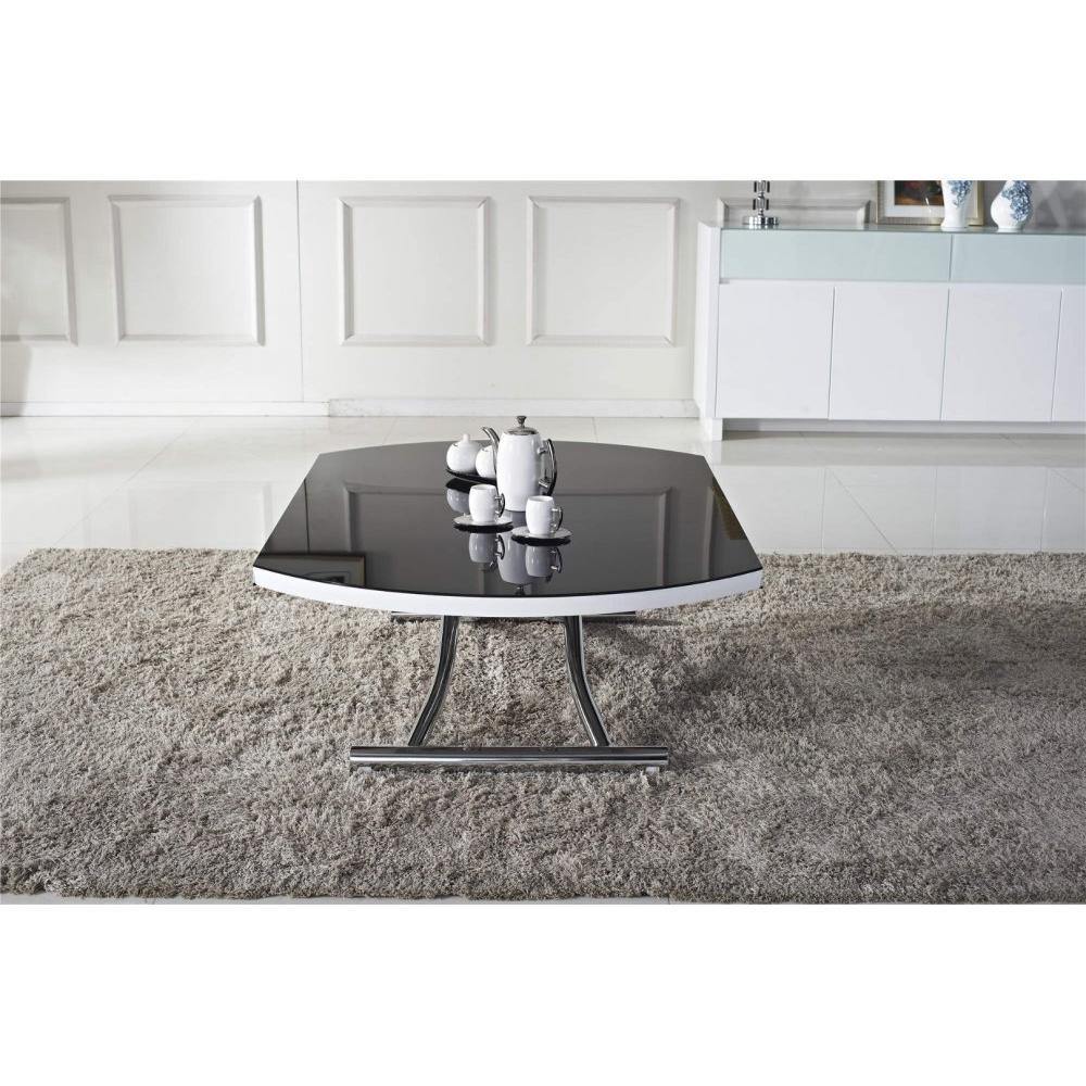 Table basse ronde relevable et 28 images table for Table ronde extensible blanche