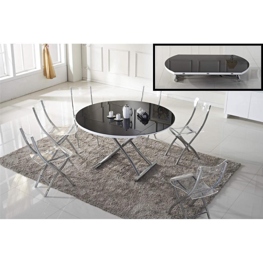 Table basse convertible fly for Table ronde verre fly