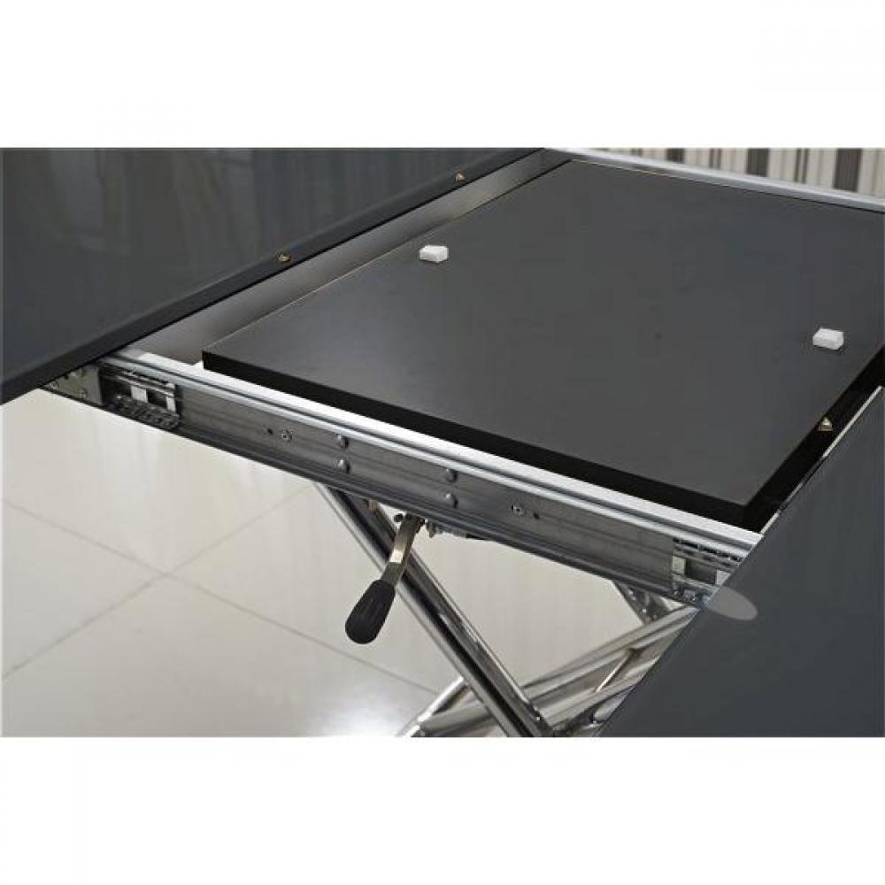 tables relevables tables et chaises table basse ronde relevable et extensible saturna noire. Black Bedroom Furniture Sets. Home Design Ideas